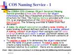 cos naming service 1