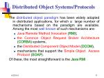 distributed object systems protocols