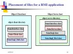 placement of files for a rmi application