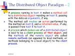 the distributed object paradigm 2