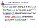 the distributed object paradigm