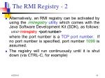 the rmi registry 2