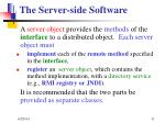 the server side software