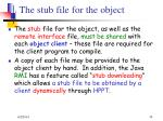 the stub file for the object