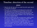 timeline direction of the second pass