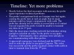 timeline yet more problems
