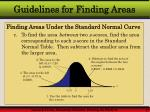 guidelines for finding areas17