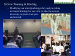 f crew training briefing