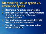 marshaling value types vs reference types