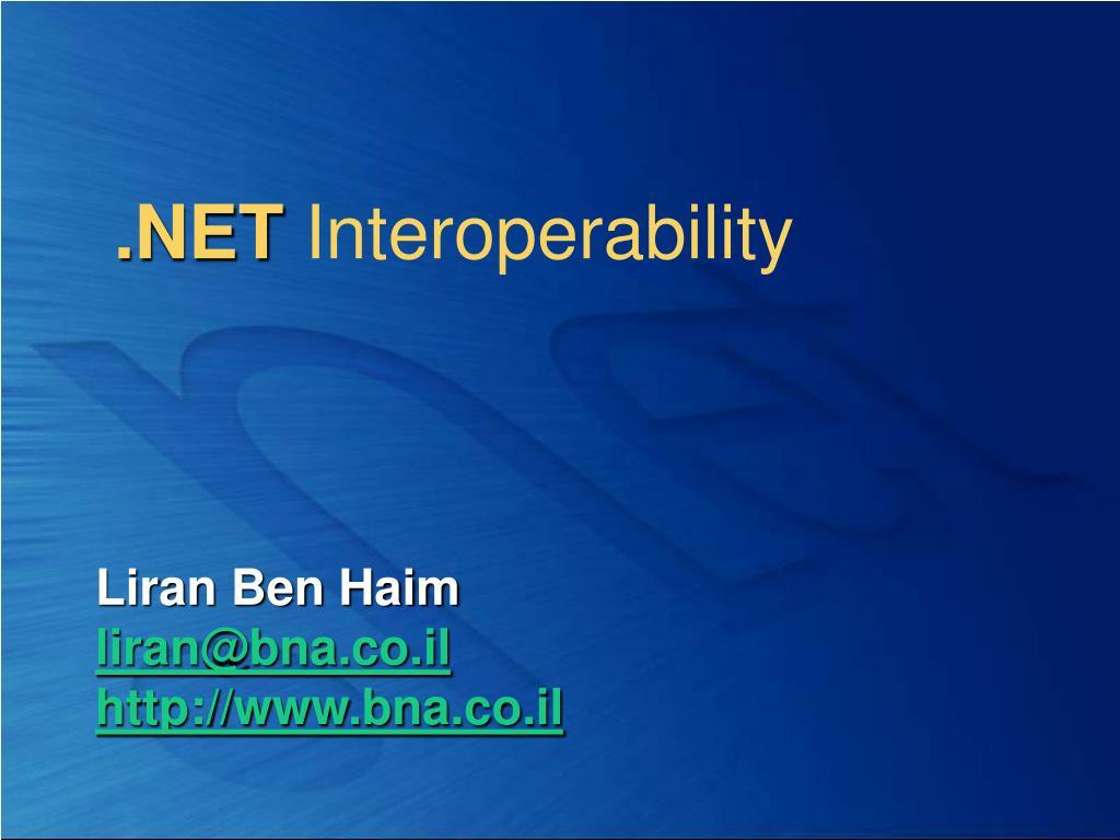 net interoperability l.