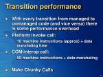 transition performance