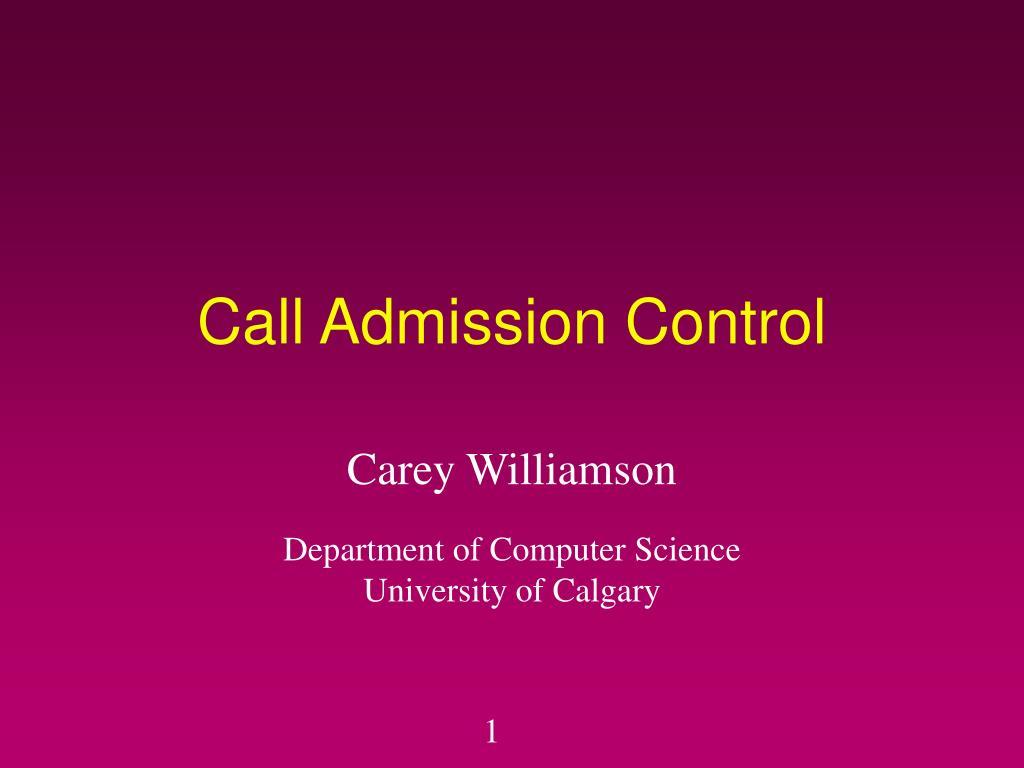 call admission control l.