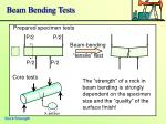 beam bending tests