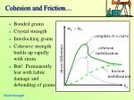 cohesion and friction