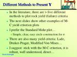 different methods to present y