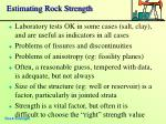 estimating rock strength