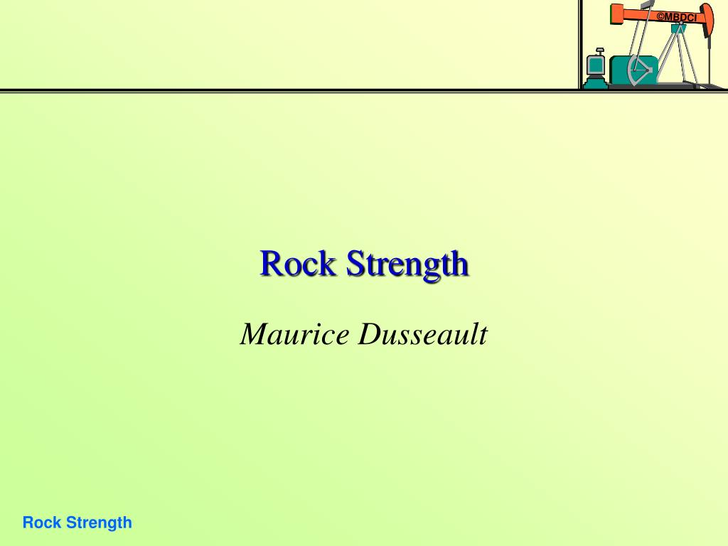 rock strength l.