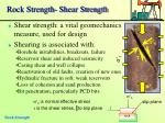 rock strength shear strength