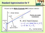 standard approximation for y