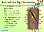 strain and shear slip displacement