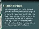 spacecraft navigation
