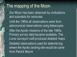 the mapping of the moon