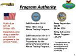 program authority
