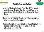 the limited use policy16