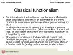 classical functionalism
