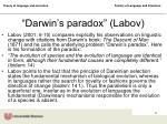 darwin s paradox labov