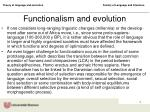 functionalism and evolution