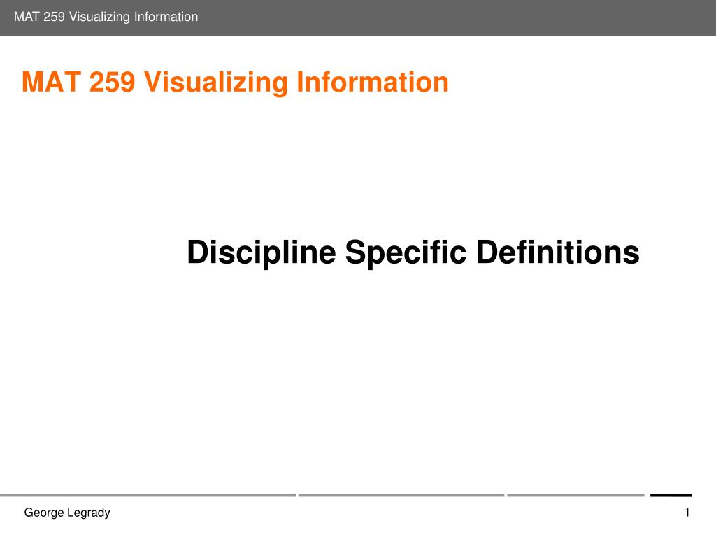 mat 259 visualizing information l.