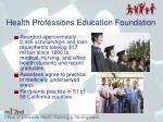 health professions education foundation