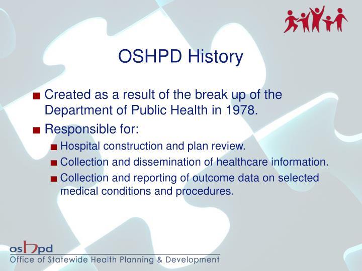 OSHPD History