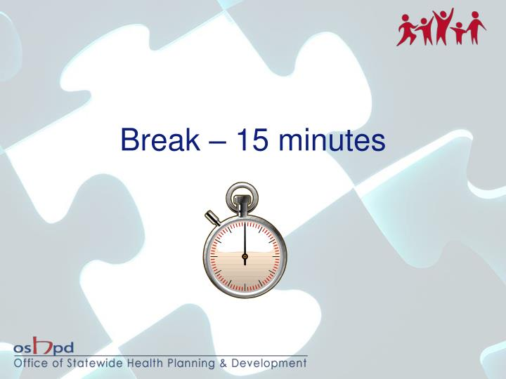 Break – 15 minutes