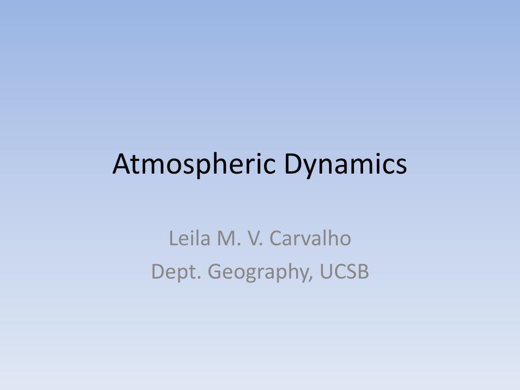atmospheric dynamics l.