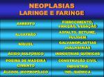 neoplasias laringe e faringe