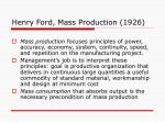 henry ford mass production 1926