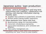 japanese autos lean production