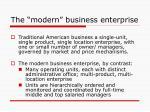 the modern business enterprise