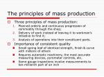 the principles of mass production