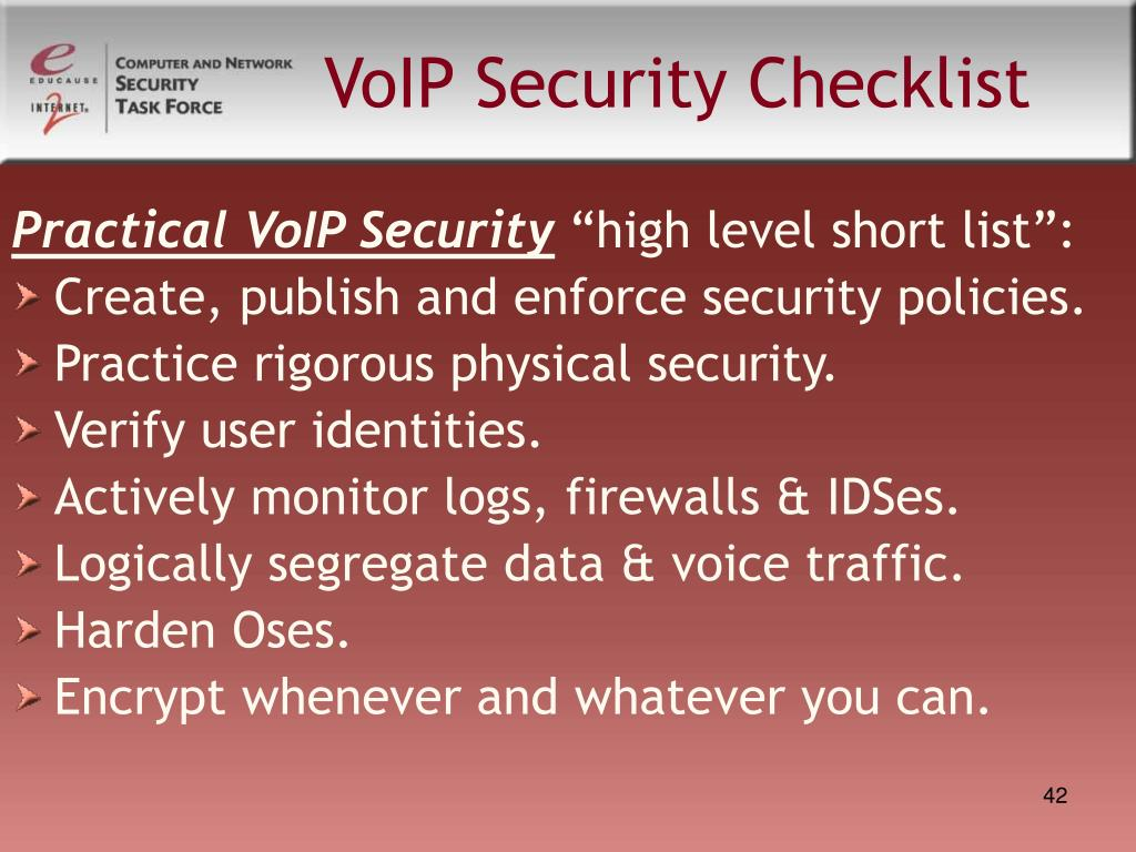 VoIP Security Checklist