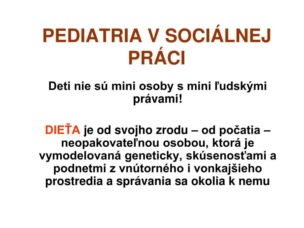 pediatria v soci lnej pr ci l.