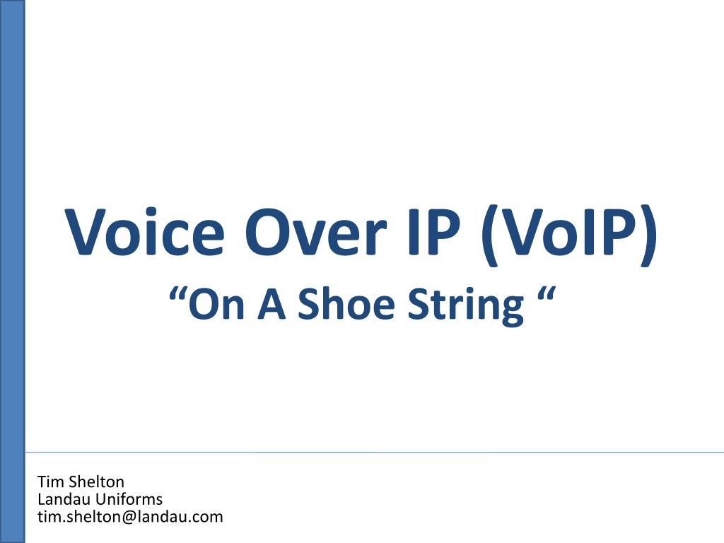voice over ip voip on a shoe string l.