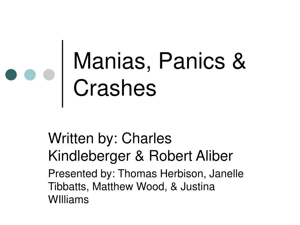 manias panics crashes l.