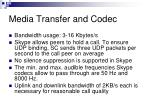 media transfer and codec