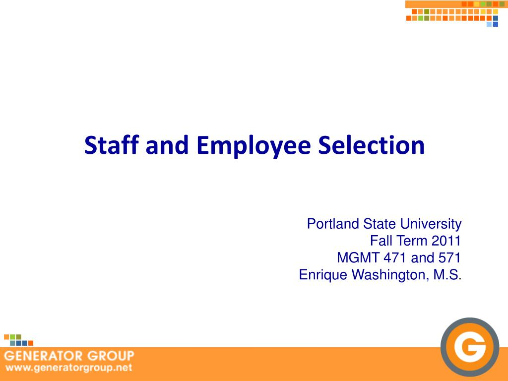 staff and employee selection l.