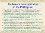 trademark administration in the philippines