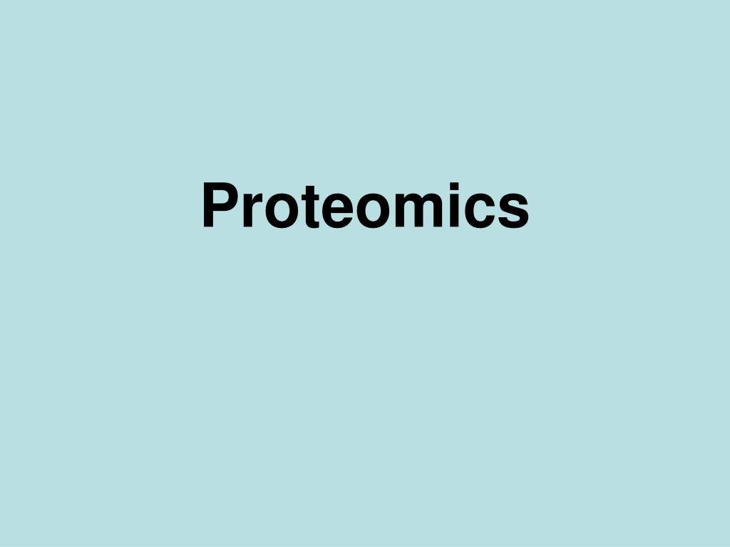 proteomics l.