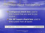 more magic wand tool options
